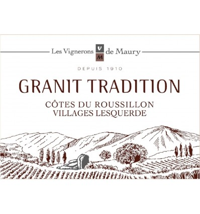 "CRV Lesquerde Granit ""Tradition"" Rouge 2017 AOP 75 cl"